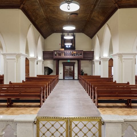 Central aisle and gallery Parish Church